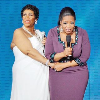 Aretha Franklin, Oprah Winfrey in Aretha Franklin and Oprah Winfrey During Surprise Oprah A Farewell Spectacular