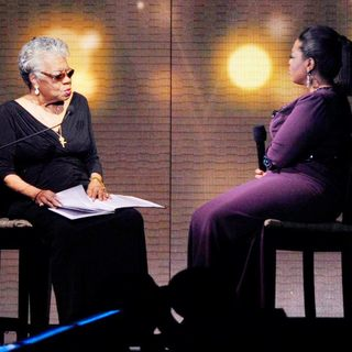 Oprah Winfrey and Maya Angelou During Surprise Oprah A Farewell Spectacular