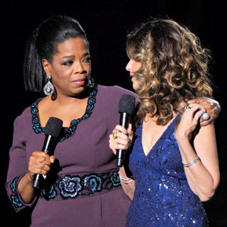 Oprah Winfrey and Maria Shriver During Surprise Oprah A Farewell Spectacular