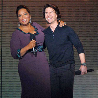 Oprah Winfrey and Tom Cruise During Surprise Oprah A Farewell Spectacular