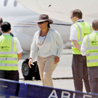 Oprah Winfrey Arrives by Private Jet for Her Two 'Ultimate Australian Adventure' Shows Taping
