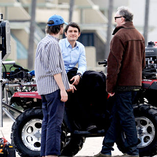Orlando Bloom in On the set of movie 'The Good Doctor'