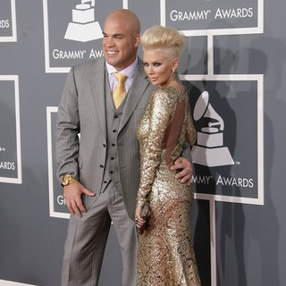 Jenna Jameson in 55th Annual GRAMMY Awards - Arrivals - ortiz-jameson-55th-annual-grammy-awards-04