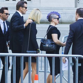 Giuliana Rancic in Joan Rivers Memorial Service - osbourne-rancic-joan-rivers-memorial-service-02