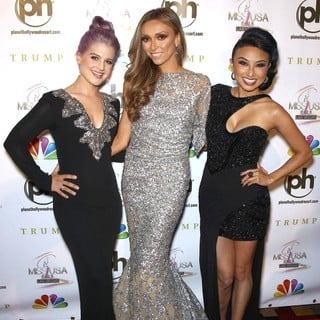 Kelly Osbourne, Giuliana Rancic, Jeannie Mai in 2012 Miss USA Pageant - Red Carpet
