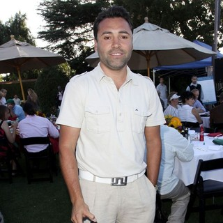 Oscar De La Hoya in Launch of The Ann and George Lopez Foundation