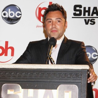 Oscar De La Hoya in Press Conference for The ABC Television Series Shaq vs