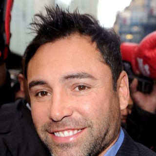 Oscar De La Hoya in American Boxer Surrounded by Fans After Leaving A Press Conference