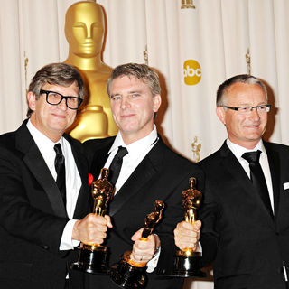 Rick Carter, Robert Stromberg, Kim Sinclair in The 82nd Annual Academy Awards (Oscars) - Press Room