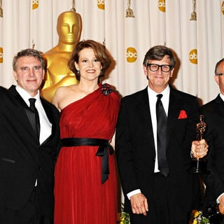 Sigourney Weaver, Rick Carter, Robert Stromberg, Kim Sinclair in The 82nd Annual Academy Awards (Oscars) - Press Room