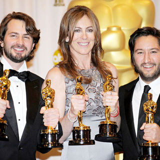 Mark Boal, Kathryn Bigelow, Greg Shapiro in The 82nd Annual Academy Awards (Oscars) - Press Room
