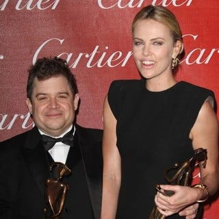 Patton Oswalt, Charlize Theron in The 23rd Annual Palm Springs International Film Festival Awards Gala - Press Room