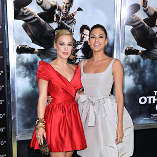 Lindsay Sloan, Eva Mendes in The NY Movie Premiere of 'The Other Guys'