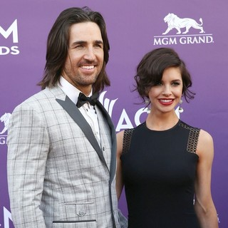 Jake Owen, Lacey Buchanan in 48th Annual ACM Awards - Arrivals