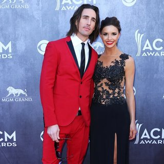 Jake Owen, Lacey Buchanan in 49th Annual Academy of Country Music Awards - Arrivals
