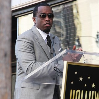 P. Diddy in Babyface Honored with A Walk of Fame Star Ceremony