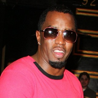 P. Diddy - Celebrities Outside Bootsy Bellows Nightclub