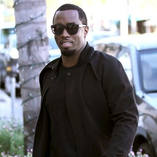 P. Diddy Outside Il Pastaio Restaurant