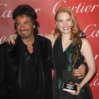 Al Pacino, Jessica Chastain in The 23rd Annual Palm Springs International Film Festival Awards Gala - Press Room