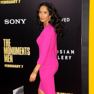 Padma Lakshmi in New York Premiere of The Monuments Men - Inside Arrivals