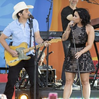 Brad Paisley and Demi Lovato on Good Morning America Summer Concert Series
