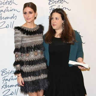 Olivia Palermo, Mary Katrantzou in British Fashion Awards 2011 - Press Room