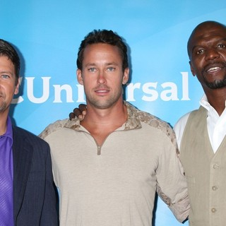 Todd Palin, Brent Gleeson, Terry Crews in NBC Universal Press Tour