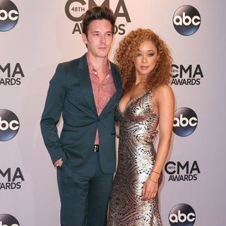 Sam Palladio, Chaley Rose in 48th Annual CMA Awards - Red Carpet
