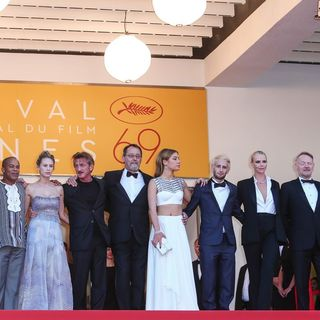Matt Palmieri, Zubin Cooper, Dylan Penn, Sean Penn, Jean Reno, Adele Exarchopoulos, Hopper Penn, Charlize Theron, Jared Harris, Javier Bardem in 69th Cannes Film Festival - The Last Face Premiere - Arrivals