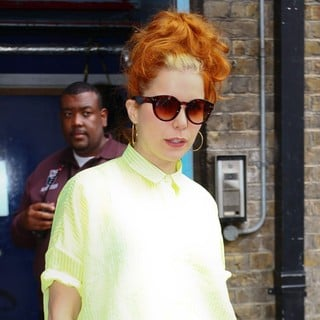 Paloma Faith in Paloma Faith Leaving Radio 1's Hackney Academy