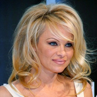 Pamela Anderson in Pamela Anderson at The Booth of Alessandro International Presenting Nail Line Striplac