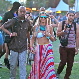 Paris Hilton - Celebrities at The 2012 Coachella Valley Music and Arts Festival - Day 2