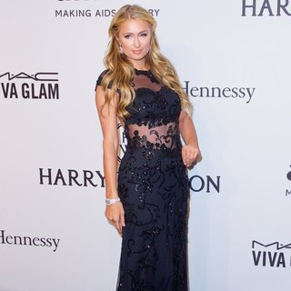 Paris Hilton in 2015 amfAR New York Gala - Red Carpet Arrivals