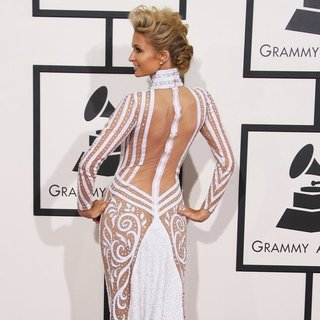 Paris Hilton in The 56th Annual GRAMMY Awards - Arrivals