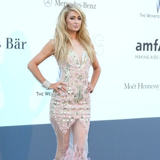 Paris Hilton in 66th Cannes Film Festival - amfAR's 20th Annual Cinema Against AIDS - Arrivals
