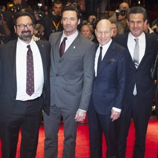 Hutch Parker, James Mangold, Hugh Jackman, Patrick Stewart, Simon Kinberg-67th International Berlin Film Festival - Logan - Premiere