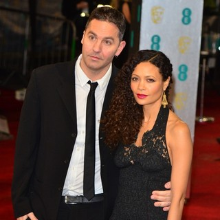 Ol Parker, Thandie Newton in The 2013 EE British Academy Film Awards - Arrivals