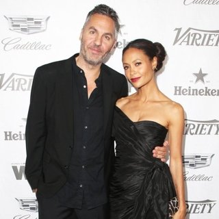 Ol Parker, Thandie Newton in Variety and Women in Film's 2018 Pre-Emmy Celebration - Arrivals