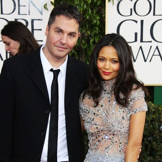 Ol Parker, Thandie Newton in 70th Annual Golden Globe Awards - Arrivals