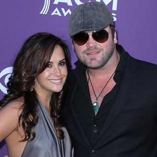 Sarah Parlinten, Lee Brice in 2012 ACM Awards - Arrivals