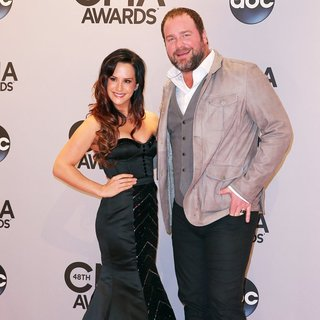 Sarah Parlinten, Lee Brice in 48th Annual CMA Awards - Red Carpet