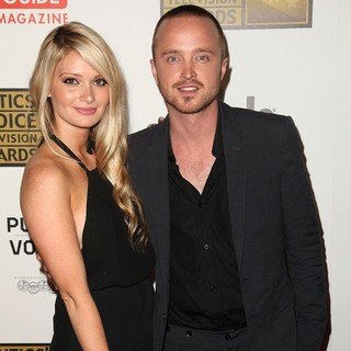 Lauren Parsekian, Aaron Paul in 2012 Critics' Choice TV Awards - Arrivals