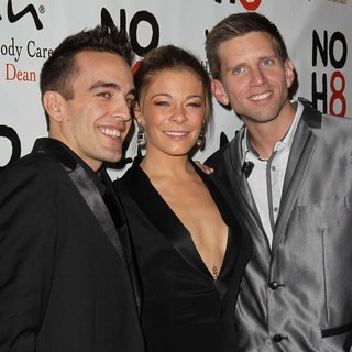Jeff Parshley, LeAnn Rimes, Adam Bouska in NOH8 Celebrity Studded 4th Anniversary Party - Arrivals