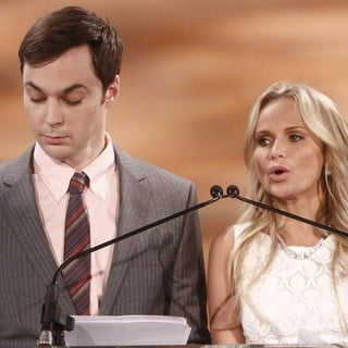 Jim Parsons, Kristin Chenoweth in The 2012 Tony Awards Nomination Announcements