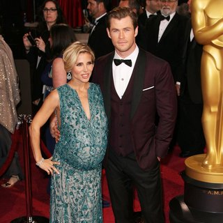 Elsa Pataky, Chris Hemsworth in The 86th Annual Oscars - Red Carpet Arrivals