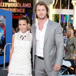 Elsa Pataky, Chris Hemsworth in Los Angeles Premiere of Captain America The First Avenger - Arrivals