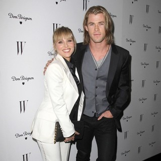 Elsa Pataky, Chris Hemsworth in W Magazine's 69th Annual Golden Globe Awards Celebration - Arrivals