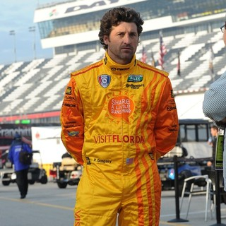Patrick Dempsey Appears During Testing for Rolex Sports Car Series Rolex 24