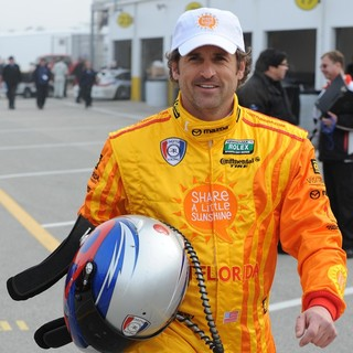 Patrick Dempsey in Patrick Dempsey Appears During Testing for Rolex Sports Car Series Rolex 24