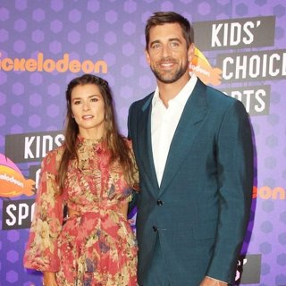 Danica Patrick, Aaron Rodgers in Nickelodeon Kids' Choice Sports Awards 2018 - Arrivals